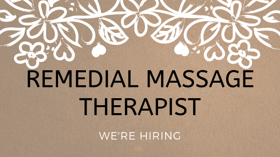 REMEDIAL MASSAGE THERAPIST WANTED.